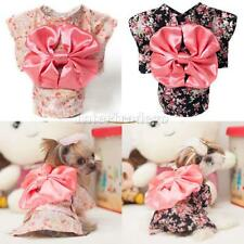 Cute Pet Dog Cat Kimono Clothes Apparel Costume Princess Dress Summer XS-XL