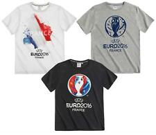 Boys UEFA EURO France 2016 Football Cotton Crew Neck T-Shirt Top 10 to 16 Years