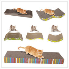 Durable Corrugated Hard Board Cat Scratcher Seize Scratching Catnip Pad Bed
