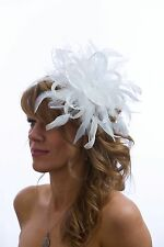 White Fascinator hat /choose any other different colour satin or feathers