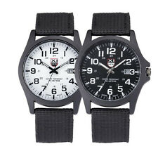 Outdoor Mens Date Stainless Steel Military Sports Army Analog Quartz Wrist Watch