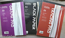 A4 Student Pads Black Paper 140gsm/ Graph Paper 70gsm/Tracing Paper 90gsmNew