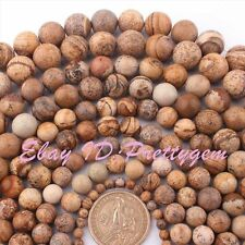 4,6,8,10,12mm Natural Round Multicolor Picture Jasper Gemstone Beads Strand 15""