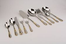 Retroneu Linda Gold Accent 18/8  Stainless Flatware YOUR CHOICE