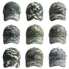 Unisex Camo Baseball Cap Military Hunting Outdoor Hat Army Camouflage Adjustable