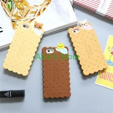 Cute cartoon Rilakkuma Bear Biscuit soft rubber case cover for iphone 6 6S plus
