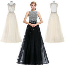 GK Ball Gown Evening Prom Party Dress Bridesmaids Wedding Cocktail Sequins Long