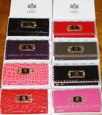 LYDC Designer Moc Croc Patent Leather Style Purse/Clutch with Gift Box
