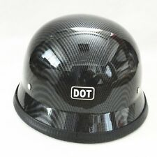 DOT Motorcycle German World War II-style Half Face Helmet Chopper Cruiser Safety