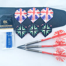 Tungsten Darts Ring Grip Darts Target Pro Grip Union Jack Flights 21g to 27g
