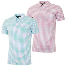 65% OFF RRP Bobby Jones Mens Supreme Cotton Gingham Golf Polo Shirt Short Sleeve