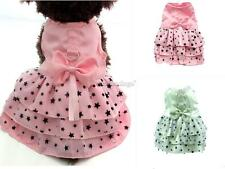 Dog Pet Puppy Female Princess Dress Clothes Costume Skirt Party Apparel PICK