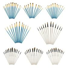 Paint Brush Pack of 12 Pcs Nylon Hair for Artist Acrylic Oil Painting Drawing