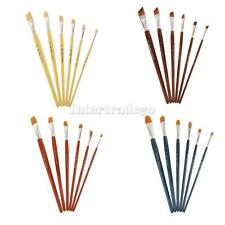 Paint Brush Pack of 6 Pcs Nylon Hair for Artist Acrylic Oil Painting Drawing