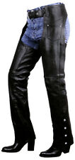 Womens Premium Leather LowCut Motorcycle Chaps Retail $159 Sizes16,18,20Closeout