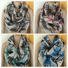 D&Y Women Ladies Fashion Two Tone Palm Tree Circle Loop Infinity Scarf 4 Colors