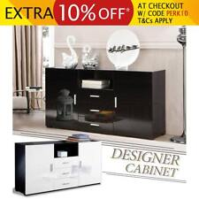 Modern 2 Door 3 Drawer Buffet Sideboard High Gloss Storage Cabinet Chest Table