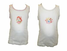Disney Princess Girls 4 Pack Pretty Vests Age 18 Months-6 Years