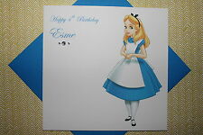 Handmade Personalised Alice In Wonderland Birthday Card 1 2 3 4 5 6 7 8 9