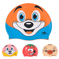 Lovely Children Silicone Kids Silicone Swimming Cap Elasticity Waterproof Cap