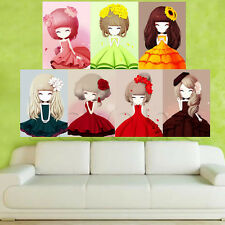5D Lovely Girl DIY Diamond Embroidery Painting Cross Stitch Home Decor Craft