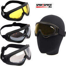Outdoor UV400 Wind Dust kite surfing jet ski Tactical Goggle Glasses Glasses