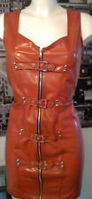 THE FEDERATION RUBBER LATEX BUCKLED SPANKING DRESS BRAND NEW CROSS DRESS