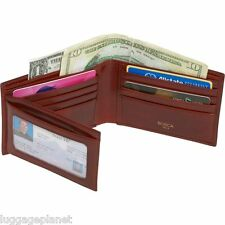 Bosca Mens Old Leather Continental ID Trifold Billfold Wallet 97