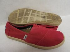 Used TOMS Youth Unisex 012001C13 Red Classic Canvas Casual Shoes All Size