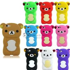 3D Colorful Teddy Bear Soft Silicone Rubber Back Case Cover for Apple iphone 5C