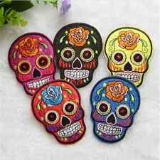 Newest Fun DIY Embroidered Cloth Iron On Patch Sew Motif Applique skull Punk