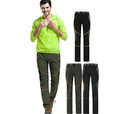 Outdoor Mens Anti-UV Breathable Quick Dry Elastic Pants Hiking Stretch Trousers