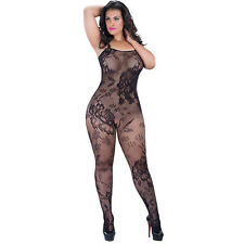 Sexy Lady Plus Size Fishnet CROTCHLESS BODYSTOCKING LINGERIE BODY STOCKING