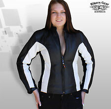 New Motorcycle Motorbike Ladies Zena Genuine cow Hide Leather CE Armour Jacket