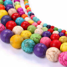 Lots Nature Turquoise Gemstone Round Loose Spacer Beads Charm Finding 6/8mm DIY
