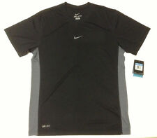 Nike 398512-012 Men's Dri-FIT Tee T-shirt Black Grey ALL Size CLEARANCE!!