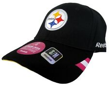 Pittsburgh Steelers NFL Reebok Onfield Adult Black Cancer Flex Fitted Hat