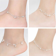 Hot Charm Silver Plated Bead Anklet Ankle Bracelet Chain Crystal Fashion Jewelry