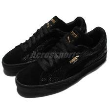 Puma Suede Gold Wns Pack Black Gold Womens Casual Shoes Sneakers 361862-01