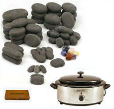 MassageMaster HOT STONE MASSAGE KIT: 70 Basalt Stones + 6.5 Qrt Hot Stone Heater
