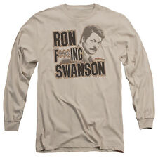 Parks and Recreation Ron F***Ing Swanson Mens Long Sleeve Shirt