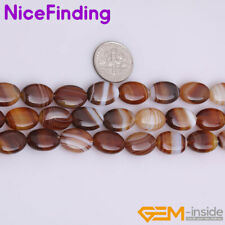 Oval Botswana Agate Natural Stone Beads For Jewelry Making Gemstone Loose Beads