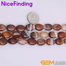 Natural Oval Botswana Agate Stone Beads For Jewelry Making Gemstone Strand 15""