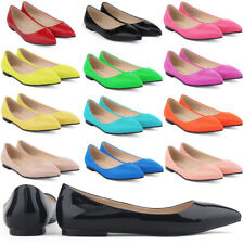 Womens Ladies Flat Pumps Glitter Ballet Ballerina Dolly For Wedding Bridal Shoes