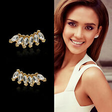 Fashion Women Lady Girls Elegant Crystal Rhinestone Ear Stud Earrings 1 Pair CHI