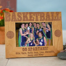 Personalized Basketball Picture Frame Engraved Sports Team Wood Photo Frame