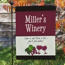 Personalized My Winery Garden Flag Any Name Wine Lover Red Wine Yard Flag Decor