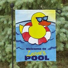 Personalized Welcome To Our Pool Garden Flag Family Name Rubber Duck Garden Flag