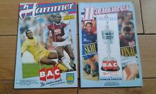 West Ham United Home Football Programmes 1989/1990 Season