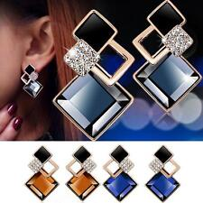Clear Rhinestone Earring Chic Multicolor Artificial Crystal Rhombus Stud Earring